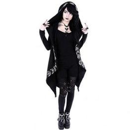 Amphia Mantel- Damen Mantel Gehrock mit Spitze von Punk Rave Lolita Gothic (Schwarz -B, XXXL) - 1