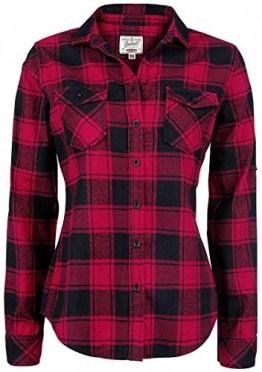 Brandit Amy Flanell Checkshirt Girl-Hemd schwarz/rot - 2XL - 1