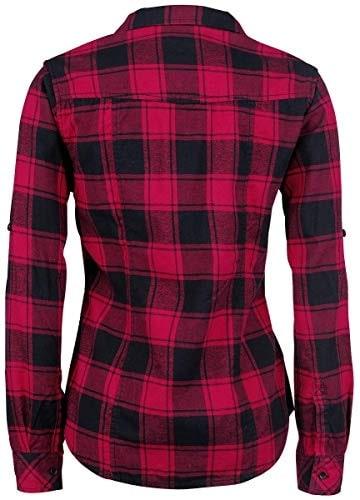 Brandit Amy Flanell Checkshirt Girl-Hemd schwarz/rot - 2XL - 2