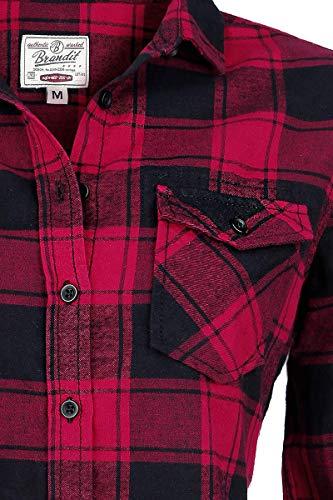 Brandit Amy Flanell Checkshirt Girl-Hemd schwarz/rot - 2XL - 4