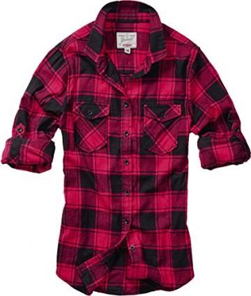 Brandit Amy Flanell Checkshirt Girl-Hemd schwarz/rot - 2XL - 8