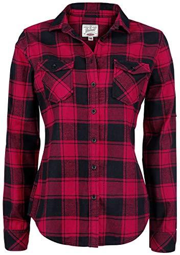 Brandit Amy Flanell Checkshirt Girl-Hemd schwarz/rot - 4XL - 1
