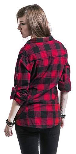 Brandit Amy Flanell Checkshirt Girl-Hemd schwarz/rot - 4XL - 7