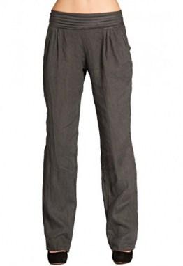 CASPAR KHS020 Damen Casual Leinen Hose, Farbe:dunkelgrau, Größe:3XL - DE46 UK18 IT50 ES48 US16 - 1