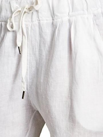 Caspar KHS045 leichte Damen Casual Sommer Freizeit Hose Leinenhose, Farbe:Weiss, Größe:3XL - DE46 UK18 IT50 ES48 US16 - 5