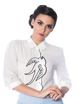Dancing Days by Banned Bluse Free As A Bird Blouse 1389 Weiß 4XL - 1