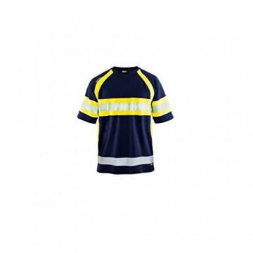 High Vis T-shirt Marineblau/Gelb XXXL - 1