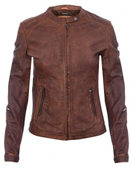 Infinity Leather Damen Bräunen Jahrgang Brando 100% Leder Radfahrer Jacke 4XL - 1
