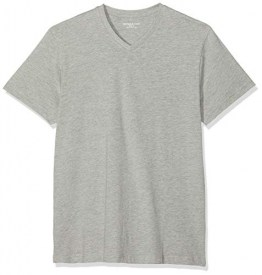 Jacamo Herren V Neck Regular T-Shirt, Grau (Grey Marl 001), XXXX-Large - 1