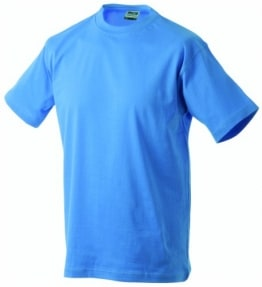 James & Nicholson Herren Kurzarm Shirt, Aqua, 3XL - 1
