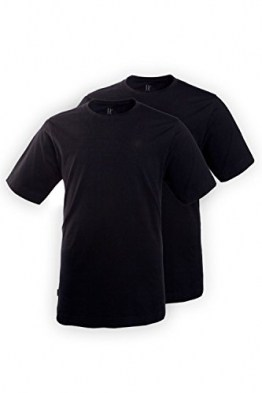 JP 1880 Große Größen Herren T-Shirt Rh Doppelpack Schwarz (Schwarz 10), XXXXXX-Large - 1