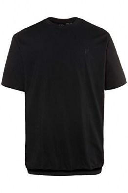 JP 1880 Herren große Größen bis 8XL, T-Shirt, Basic, Oberteil, JP1880-Druck, Rundhalsausschnitt, schwarz 6XL 712616 10-6XL - 1