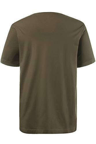 JP 1880 Herren große Größen bis 8XL, T-Shirt, JP1880-Motiv auf der Brust, Basic-Shirt, Rundhalsausschnitt, Reine Baumwolle, Khaki 6XL 702558 44-6XL - 2