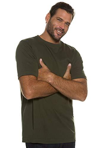 JP 1880 Herren große Größen bis 8XL, T-Shirt, JP1880-Motiv auf der Brust, Basic-Shirt, Rundhalsausschnitt, Reine Baumwolle, Khaki 6XL 702558 44-6XL - 3