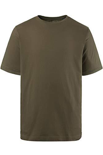 JP 1880 Herren große Größen bis 8XL, T-Shirt, JP1880-Motiv auf der Brust, Basic-Shirt, Rundhalsausschnitt, Reine Baumwolle, Khaki 6XL 702558 44-6XL - 1