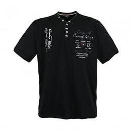 Lavecchia Herren T-Shirt Schwarz Große Größe, Schwarz, 6XL - 1