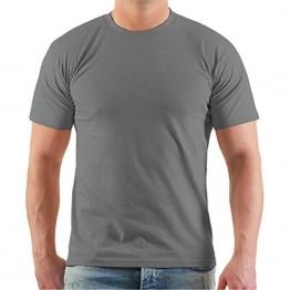 Spaß kostet Marke Tshirt Promodoro unbedruckt grau in Übergrössen 6XL 7XL 8XL - 1