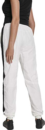 Urban Classics Damen Hose Ladies Striped Crinkle Pants Weiß (Wht/Blk 00224) W(Herstellergröße: 3XL) - 2