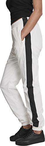 Urban Classics Damen Hose Ladies Striped Crinkle Pants Weiß (Wht/Blk 00224) W(Herstellergröße: 3XL) - 3