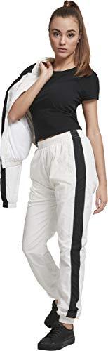 Urban Classics Damen Hose Ladies Striped Crinkle Pants Weiß (Wht/Blk 00224) W(Herstellergröße: 3XL) - 4