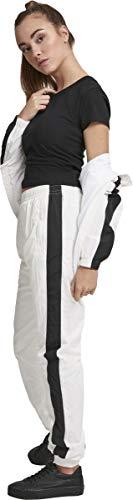 Urban Classics Damen Hose Ladies Striped Crinkle Pants Weiß (Wht/Blk 00224) W(Herstellergröße: 3XL) - 5