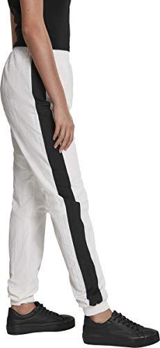 Urban Classics Damen Hose Ladies Striped Crinkle Pants Weiß (Wht/Blk 00224) W(Herstellergröße: 3XL) - 6