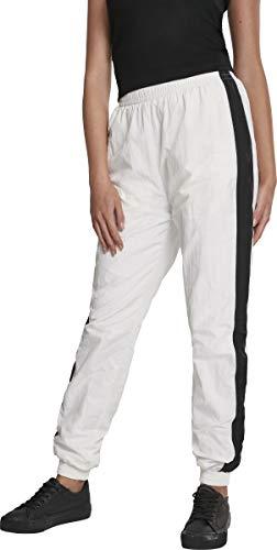 Urban Classics Damen Hose Ladies Striped Crinkle Pants Weiß (Wht/Blk 00224) W(Herstellergröße: 3XL) - 1