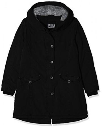 Urban Classics Damen Ladies Garment Washed Long Parka, Schwarz (Black 00007), XXXX-Large - 1