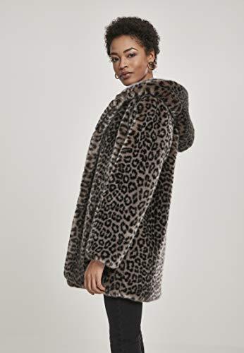 Urban Classics Damen Ladies Leo Teddy Coat Mantel, Mehrfarbig (Grey 02064), XXXX-Large (Herstellergröße: 4XL) - 3
