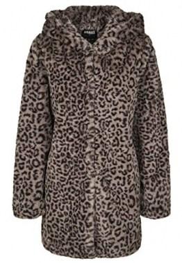 Urban Classics Damen Ladies Leo Teddy Coat Mantel, Mehrfarbig (Grey 02064), XXXX-Large (Herstellergröße: 4XL) - 1