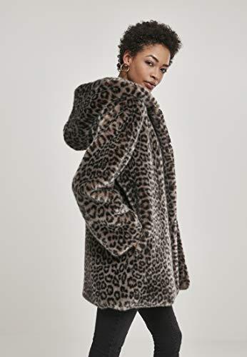 Urban Classics Damen Ladies Leo Teddy Coat Mantel, Mehrfarbig (Grey 02064), XXXX-Large (Herstellergröße: 4XL) - 5