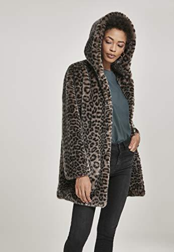 Urban Classics Damen Ladies Leo Teddy Coat Mantel, Mehrfarbig (Grey 02064), XXXX-Large (Herstellergröße: 4XL) - 6