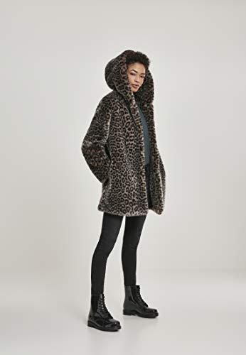 Urban Classics Damen Ladies Leo Teddy Coat Mantel, Mehrfarbig (Grey 02064), XXXX-Large (Herstellergröße: 4XL) - 7