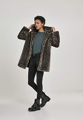 Urban Classics Damen Ladies Leo Teddy Coat Mantel, Mehrfarbig (Grey 02064), XXXX-Large (Herstellergröße: 4XL) - 8