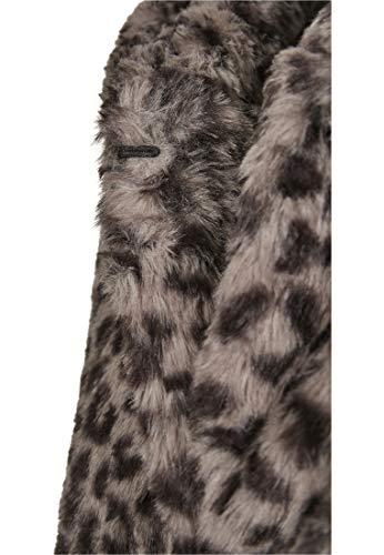 Urban Classics Damen Ladies Leo Teddy Coat Mantel, Mehrfarbig (Grey 02064), XXXX-Large (Herstellergröße: 4XL) - 9