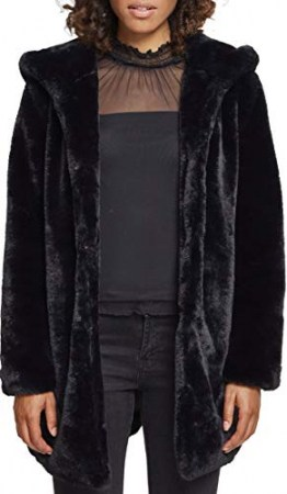 Urban Classics Ladies Hooded Teddy Coat, Farbe black, Größe 3XL - 1