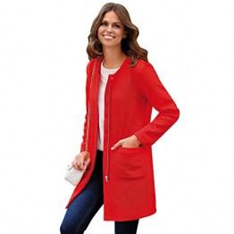 VENCA Mantel aus elastischem Piqué-Stoff mit Taschen - 022722,KORALLEN ROT,4XL - 1